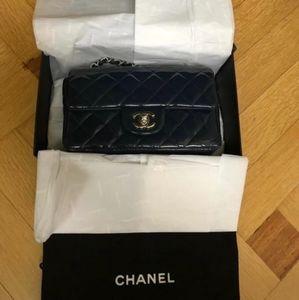 Chanel Quilted Mini Purse (Dark Navy)